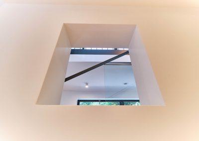 Sichtfenster zur Treppe.