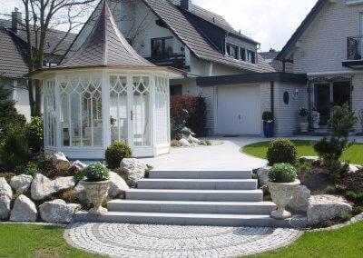 Eleganter Gartenbau