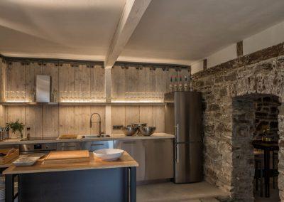 Küche im Café HiB am Bach.