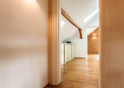 Ausgebautes Dachgeschoss im denkmalgeschützen Fachwerkhaus.