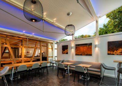 "Gartensalon des Café & Bar ""Buchmühle"""