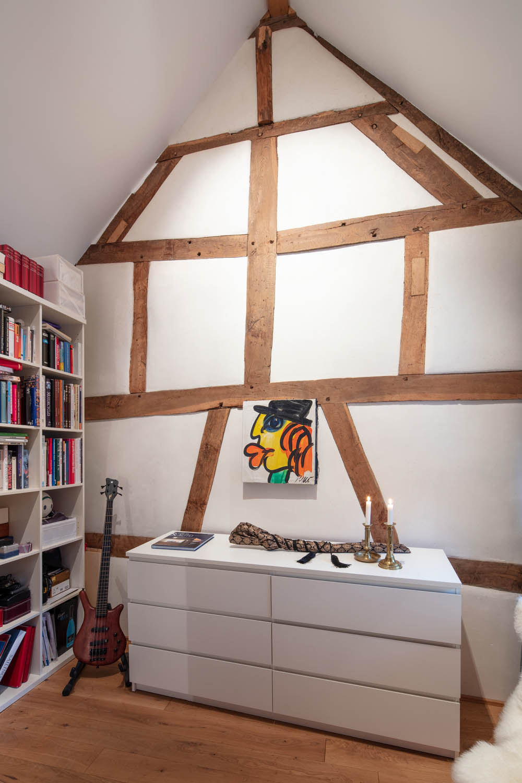 Fachwerk als Element der Innenraumgestaltung
